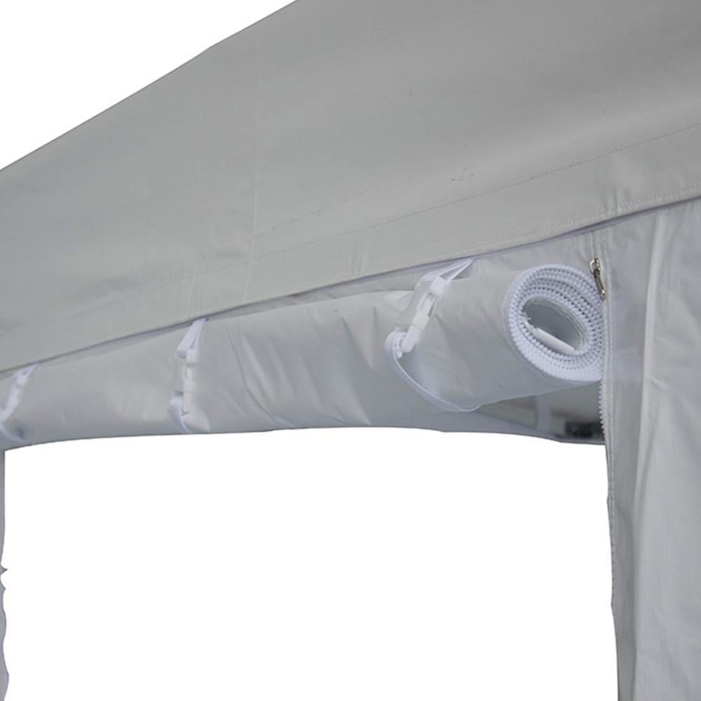 C t entr e avec fermeture 4m pvc 520g m blanc for Fermeture pvc