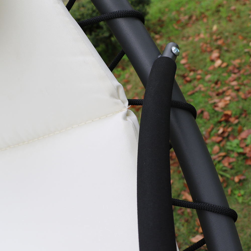 Fauteuil suspendu chaise longue de jardin avec ombrelle - Fauteuil suspendu exterieur ...
