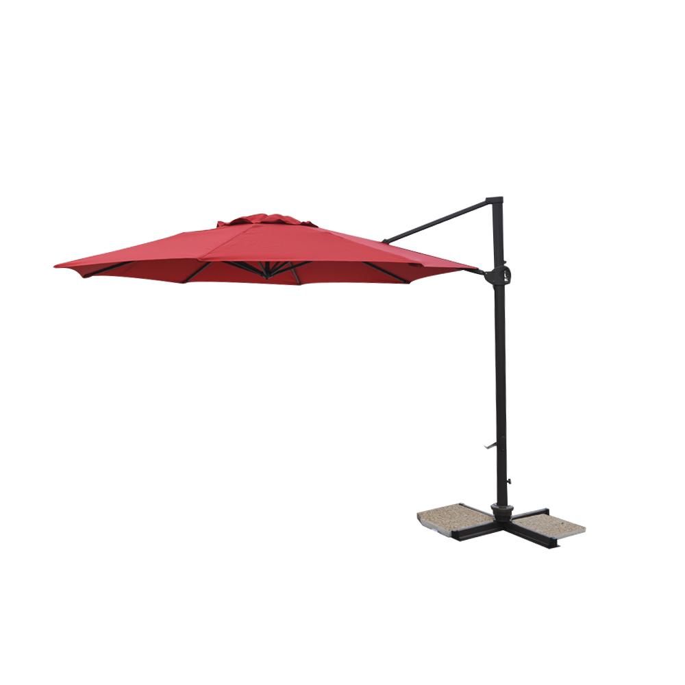 parasol excentr dia350cm alu 80x53mm framboise. Black Bedroom Furniture Sets. Home Design Ideas