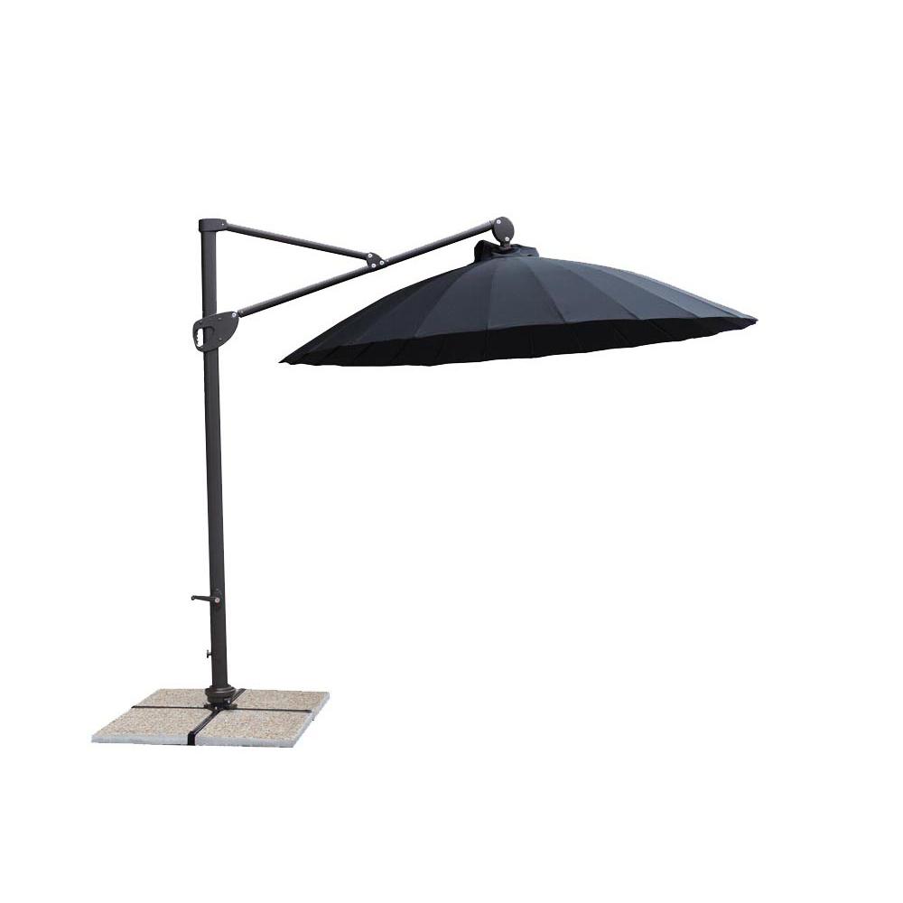 Parasol d port p kin pro dia280cm alu 90x51mm noire - Fin de serie salon de jardin ...