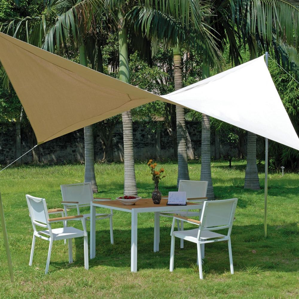 voile d 39 ombrage carr e en alu polyester 410g m moka. Black Bedroom Furniture Sets. Home Design Ideas