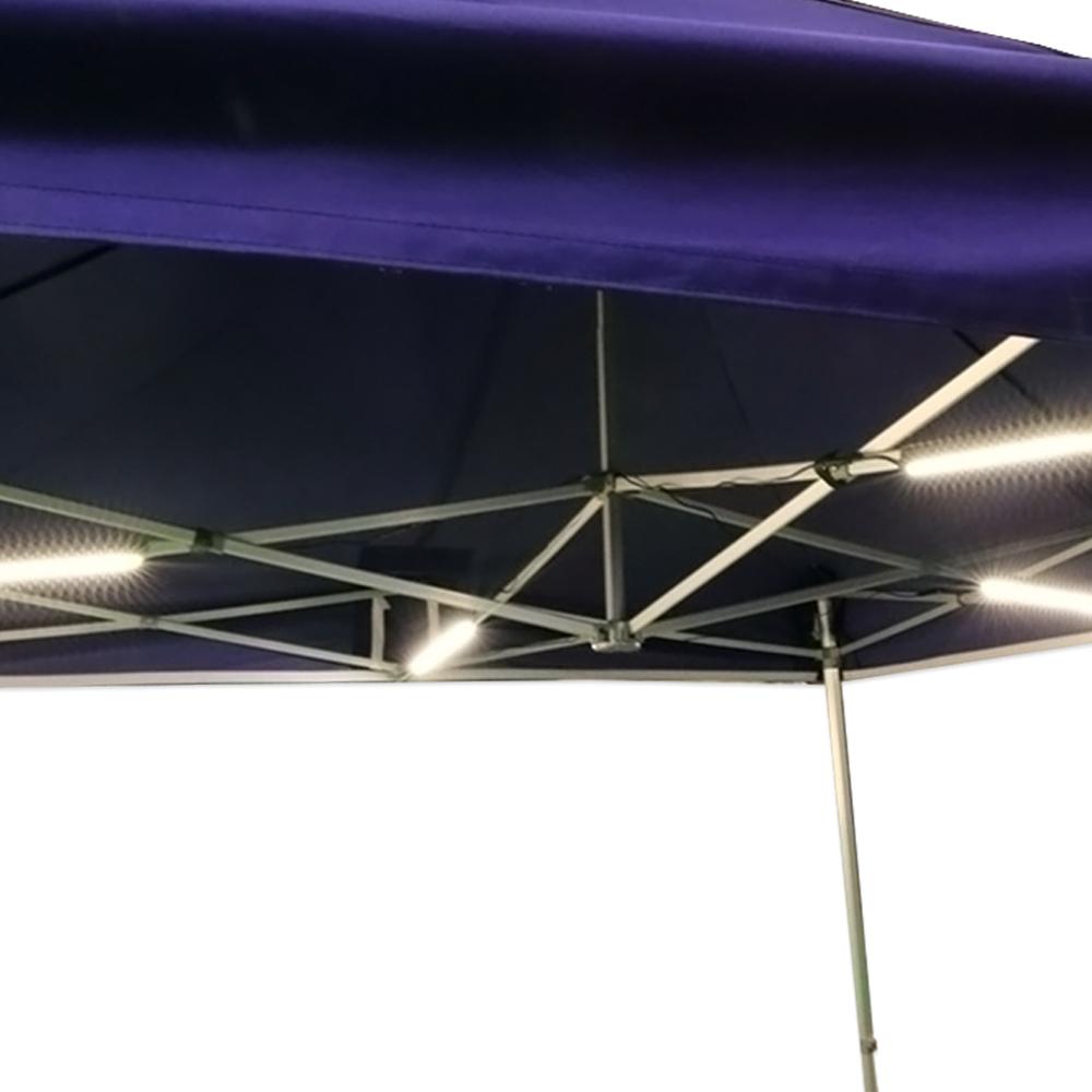 kit modulable d 39 clairage 4 barres led pour tente pliante. Black Bedroom Furniture Sets. Home Design Ideas