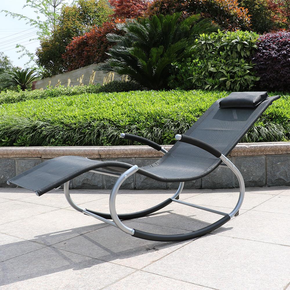 chaise longue de jardin bain de soleil bascule avec. Black Bedroom Furniture Sets. Home Design Ideas