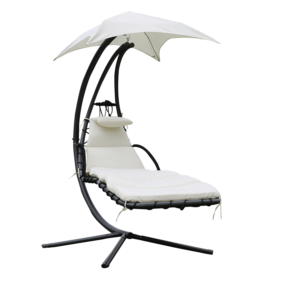 Fauteuil suspendu chaise longue de jardin avec ombrelle for Chaise longue salon de jardin
