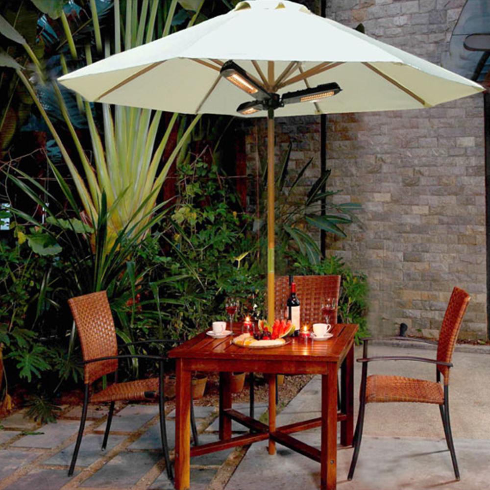 parasol chauffant lectrique trois lampes. Black Bedroom Furniture Sets. Home Design Ideas