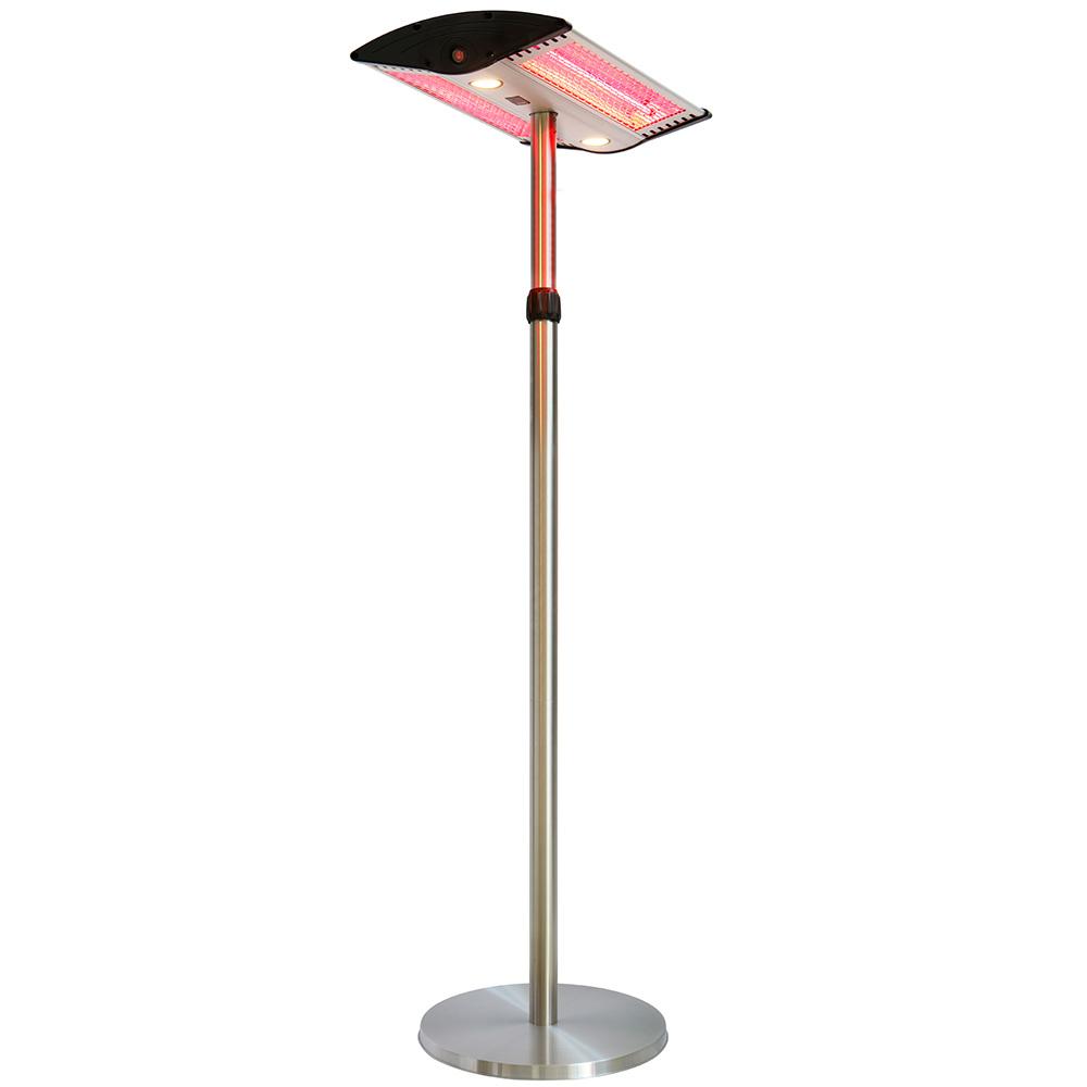 parasol chauffant lectrique sur pied hauteur r glable. Black Bedroom Furniture Sets. Home Design Ideas