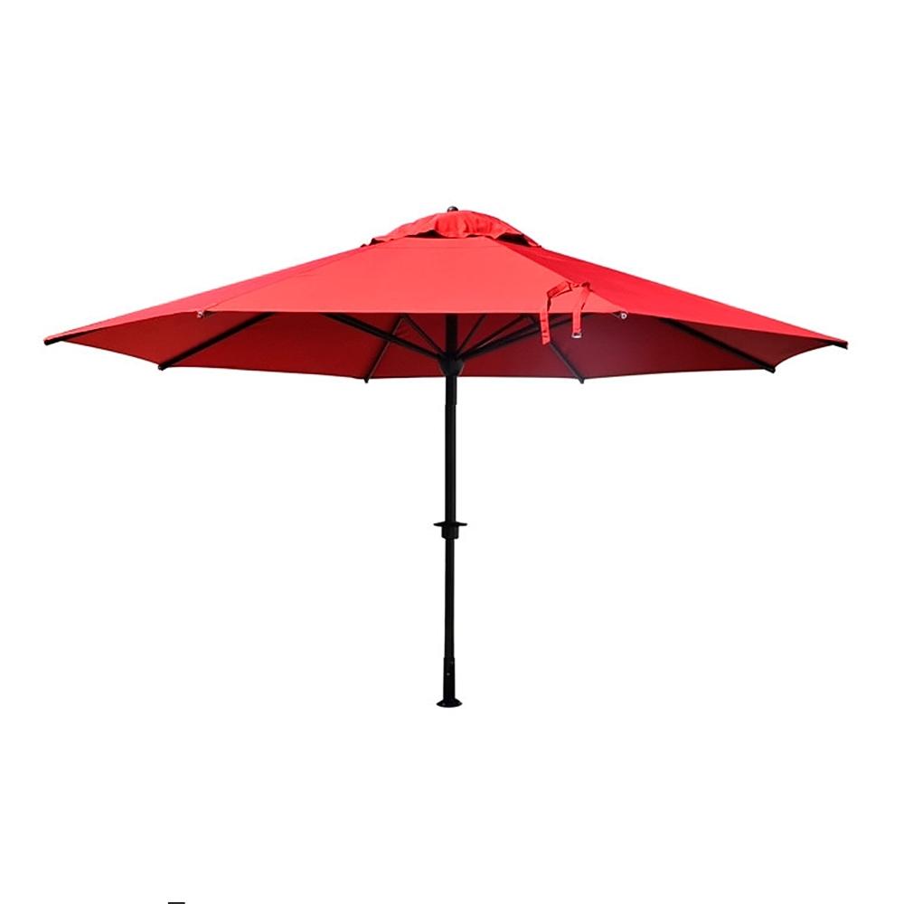 Grand parasol droit professionnels hotellerie restauration dia 5m pied alu - Grand parasol ...