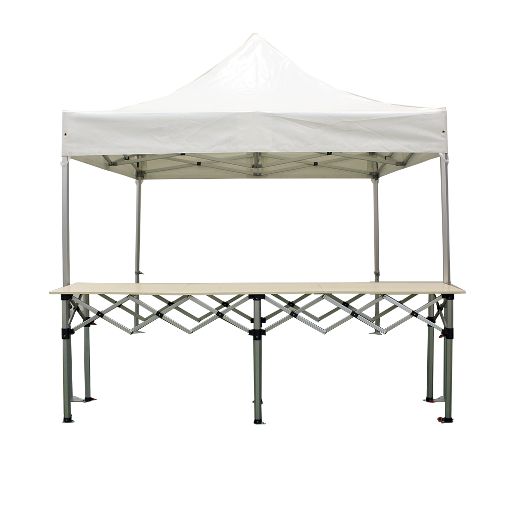 Stand buvette barnum pliant pro 3x3m alu 50mm 1 comptoir for Stand pliant
