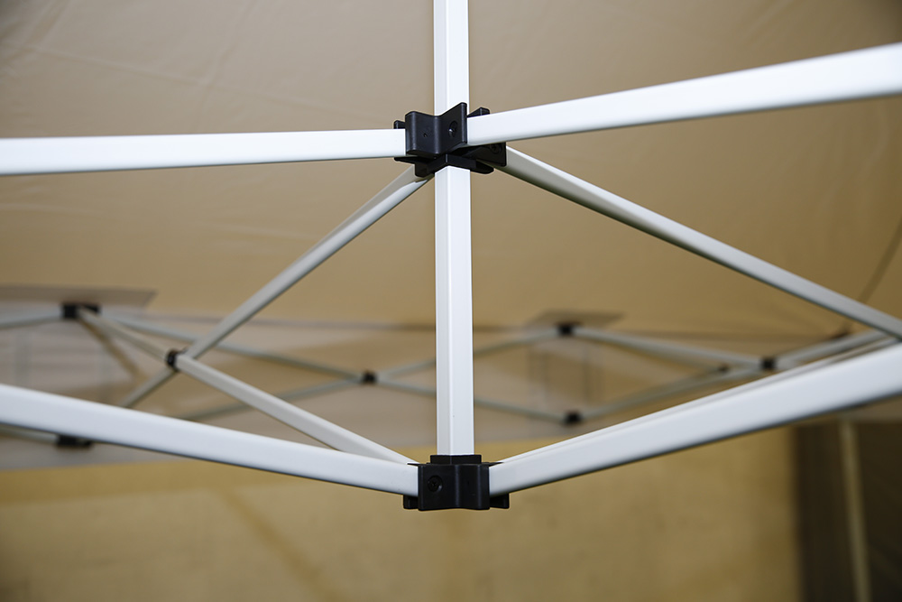Stahl Faltzelt 32mm 3x4.5m - PVC beschichtet 300g/m²