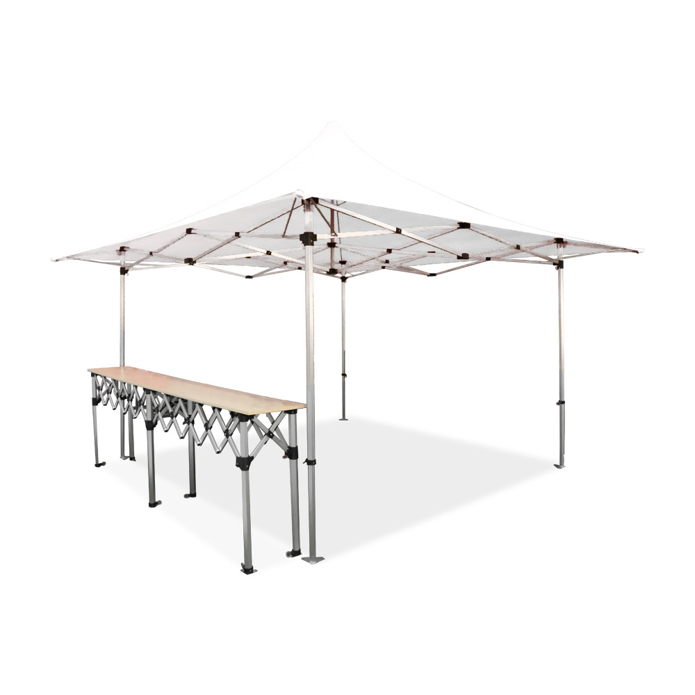 Stand buvette barnum pliant 4x4m alu 40 1 comptoir for Stand pliant